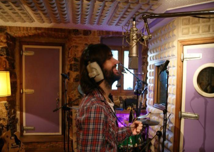 """David Otero """"El Pescao"""" grabando en Acme Studios"""