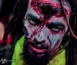 Zombie maquillado para Survival Zombies