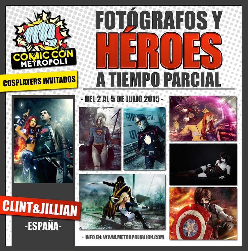 Cosplayers de Metrópoli Comic Con 2015