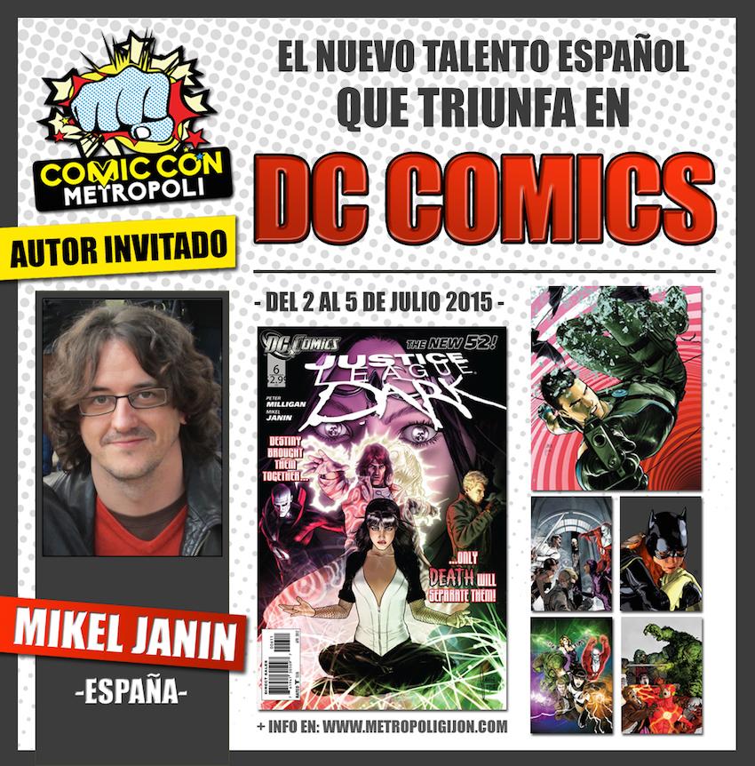 Mikel Janín en Metrópoli Comic Con