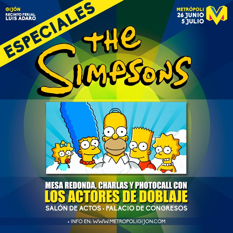 Cartel del especial de Los Simpson en Metrópoli 2015