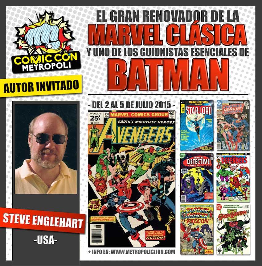 Cartel de Steve Englehart en Metrópoli Comic Con #MGCC15